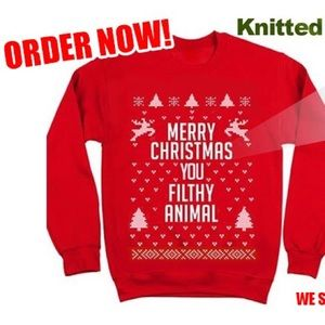 sweaters merry christmas ya filthy animal christmas sweater